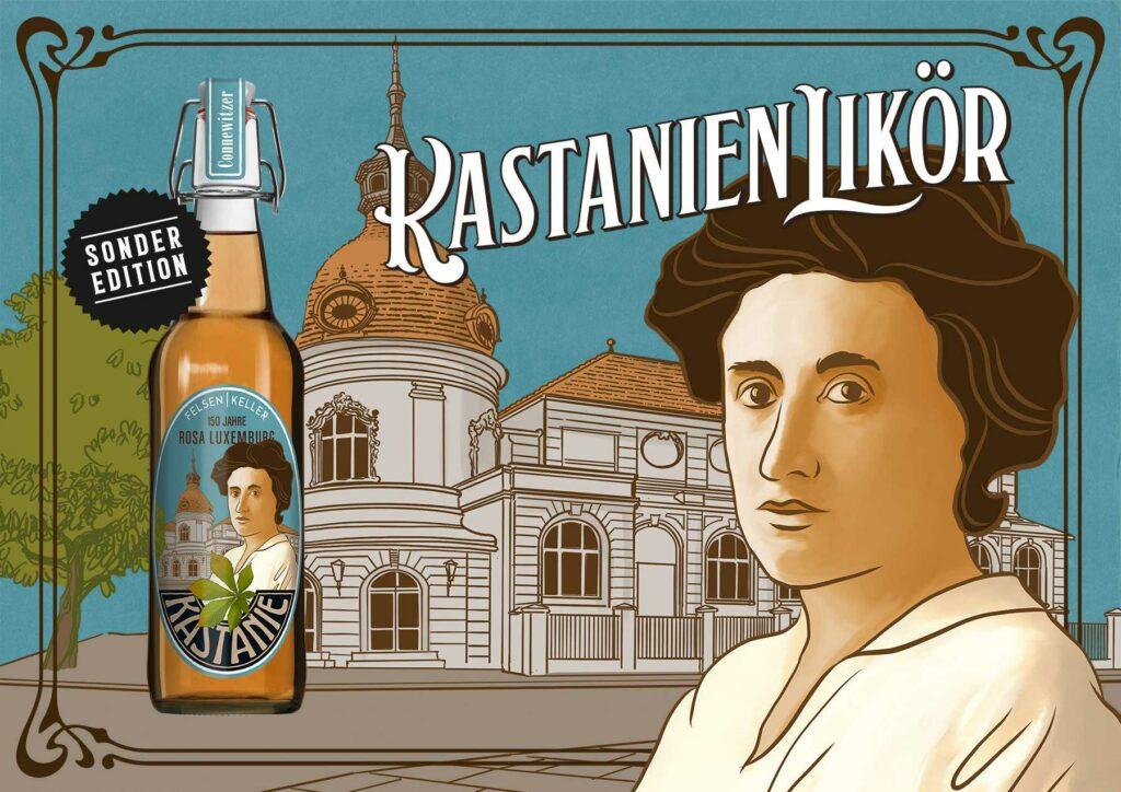 KastanienLikör - Felsenkeller Leipzig - 150 Jahre Rosa Luxemburg